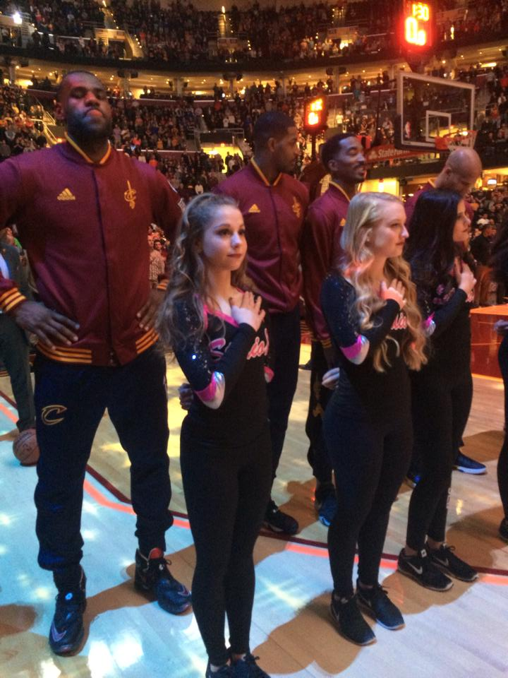 Jazz Energy Dancers perform at the Cavs game